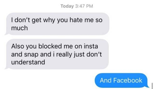 Never Text Your Ex
