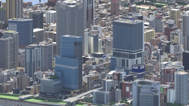 Gamer From Japan Builds A City In Minecraft