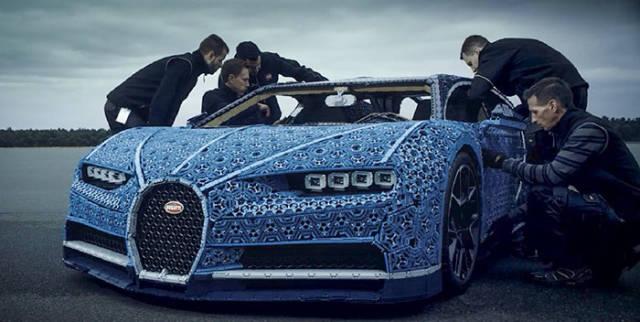 A Full-Size LEGO Bugatti Chiron That Really Drives