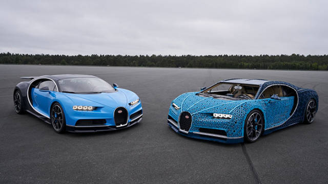 A Full-Size LEGO Bugatti Chiron That Really Drives
