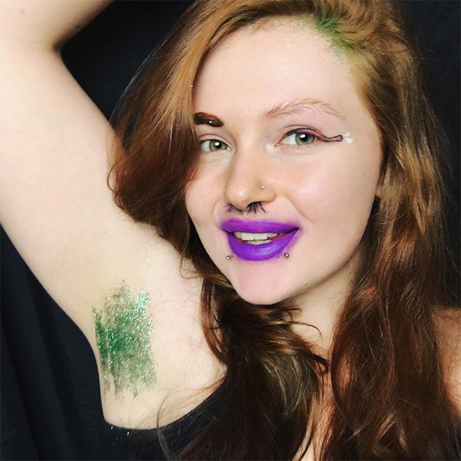 Glitter Armpits: Awkward Instagram Beauty Trend