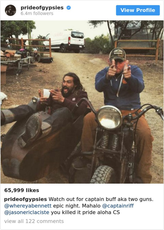 Jason Momoa Looks Cool On Instagram