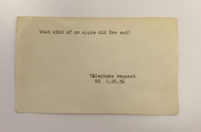 Funny Questions Posed To The New York Public Library Pre-Internet