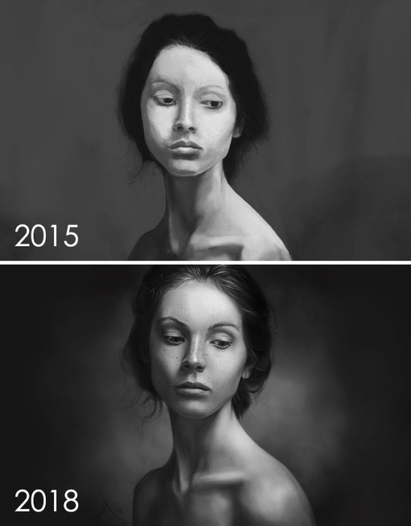 Artists Challenge Themselves To Redraw Their Old 'Crappy' Drawings, Prove That Practice Makes Perfect