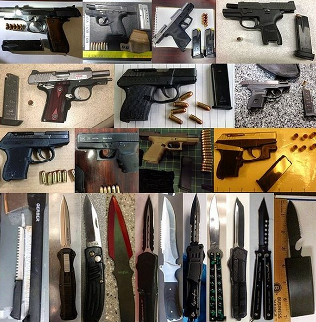Weapons Found By TSA
