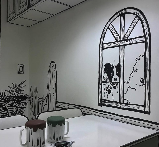 This Is Not A Drawing. This Is A Cafe In South Korea