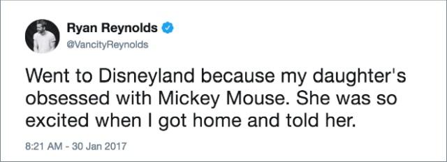 Ryan Reynolds' Funniest Tweets