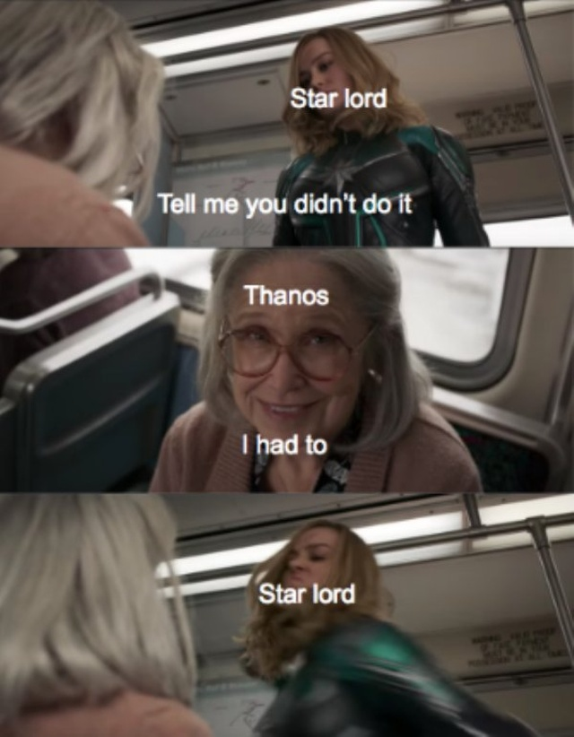 Captain Marvel Punching An Old Lady Meme