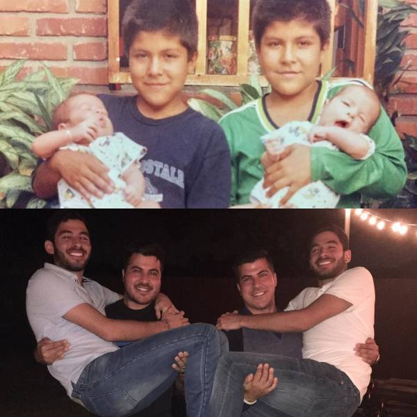 Recreated Childhood Photos