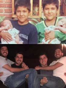 Recreated Childhood Photos
