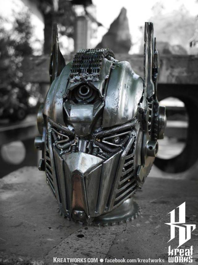 Steampunk Sculptures Made Out Of Scrap Metal