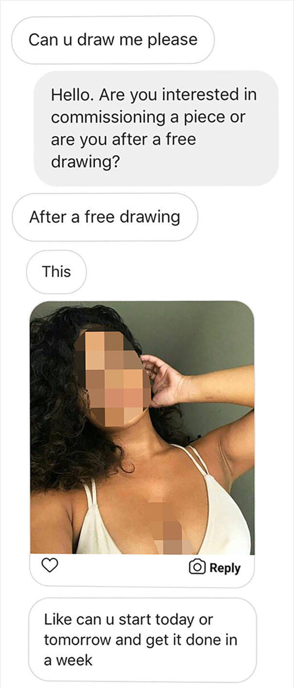 What Happens If You Ask To Draw You For Free