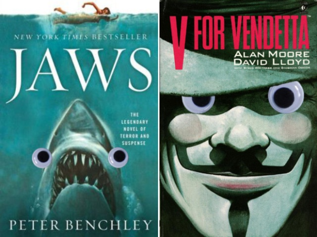 Book Covers Improved With Googly Eyes