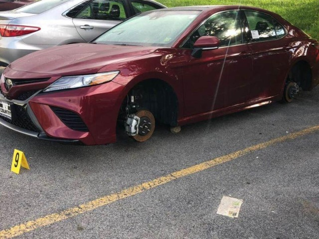 Wheels Were Stolen From Toyotas In The Parking Lot Of The Dealership