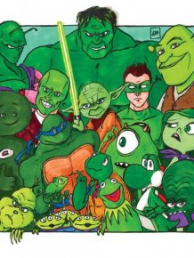 What If Popular Fictional Characters Teamed Up By Color