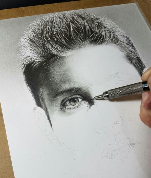 Creation Of Jensen Ackles' Portrait