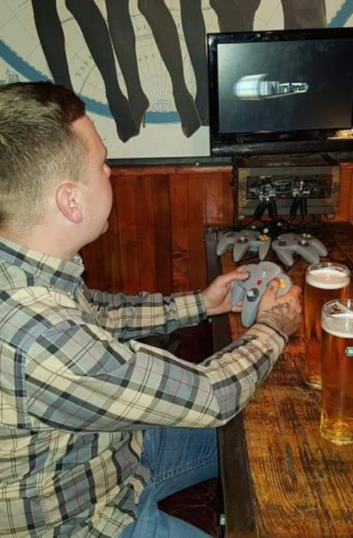 Bar In Manchester, UK With N64s At Every Table