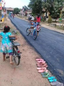 This Village Has A Decent Road For The First Time