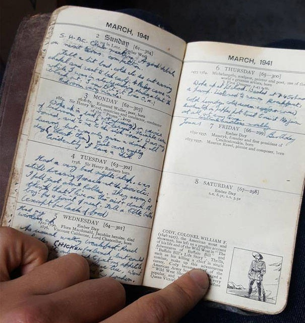 A Guy Found A Filled Diary From 1941, part 1941
