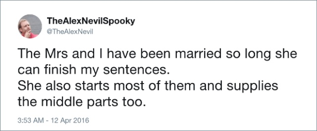 Husbands Tweet About Marriage