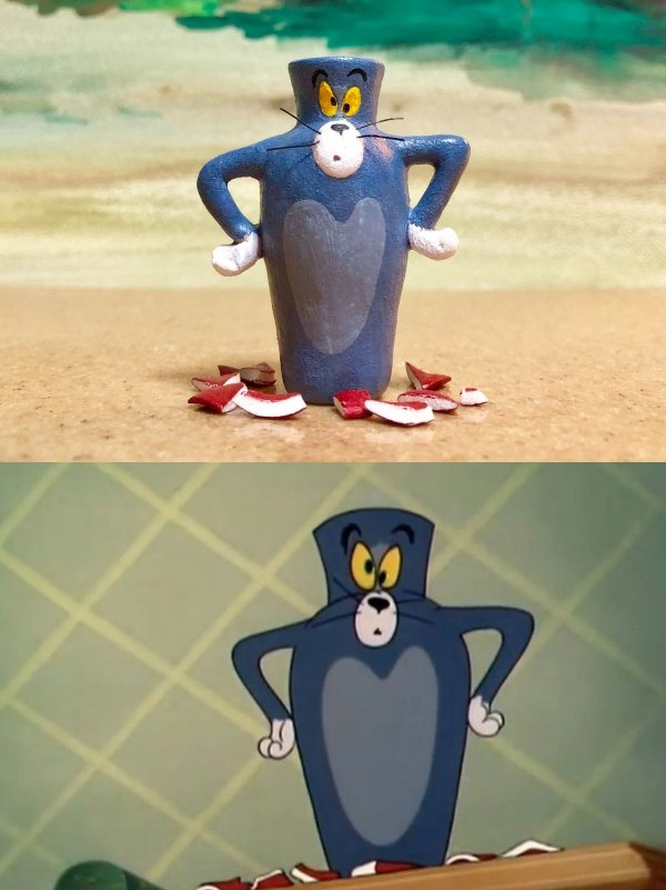 Tom's Fails From Tom & Jerry Recreated By An Artist