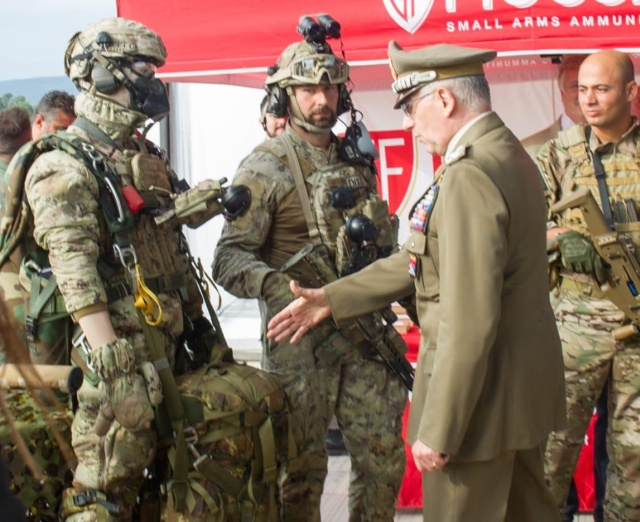 Italian Chief of Defence Staff Handshakes A Dummy