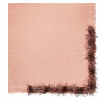 Fendi's Fur-Trimmed Shawl Looks Like A...
