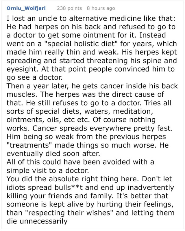 Alternative Medicine Advocate Tells This Internet User How To Cure Their Tumor, Gets Shut Down With Facts