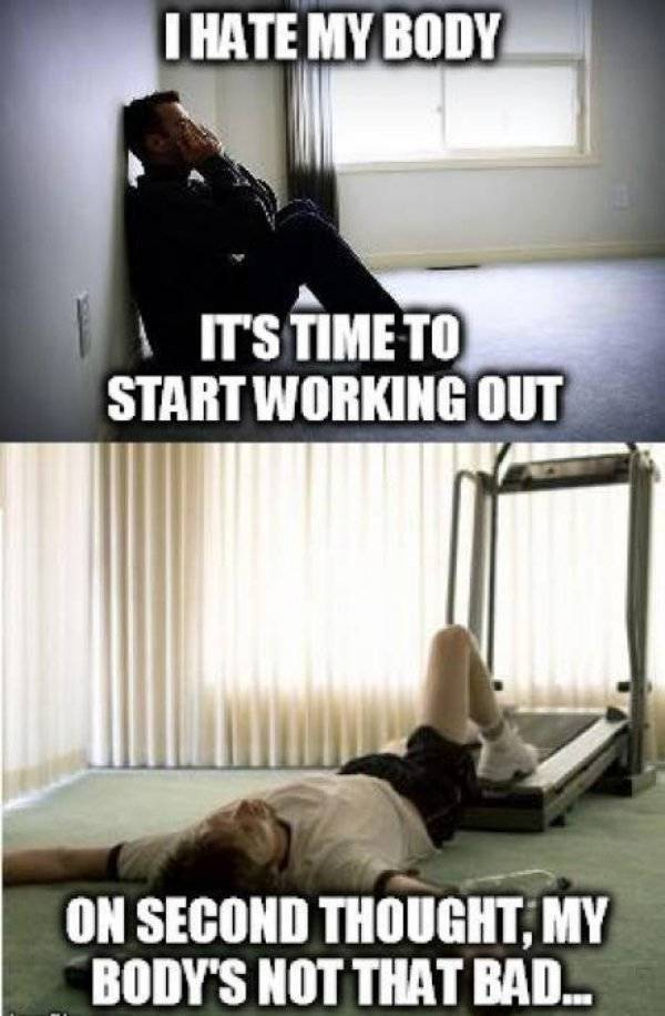 Exercising Is Just Way Too Hard