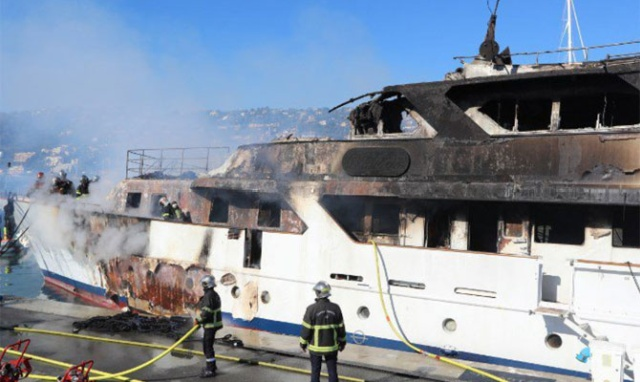 Luxury Yacht Destroyed By Fire In Cannes