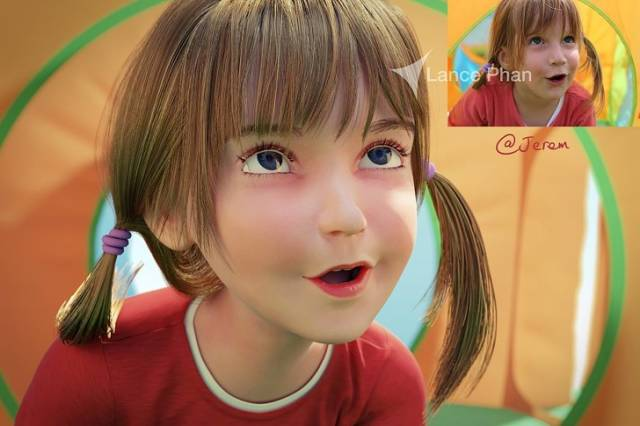 An Artist Turns People Into 3D Pixar Characters
