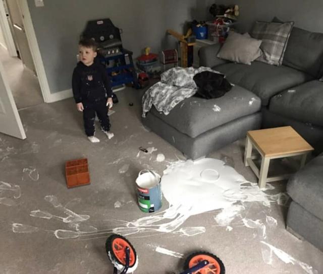 Toddler Ruins Living Room