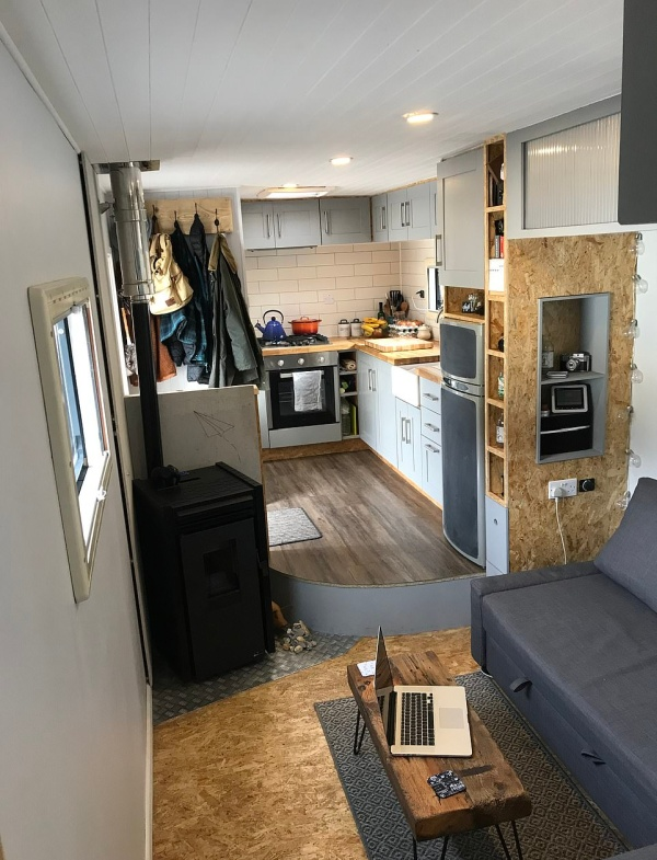 Motor Home Built Inside An Old Hovis Lorry