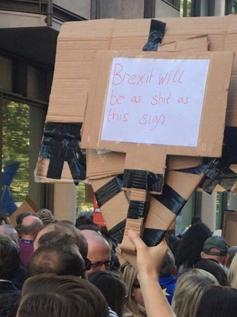 British Humor At An Anti-Brexit Protest