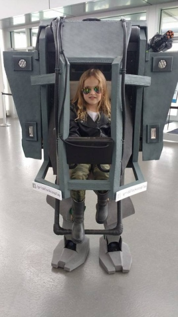 Daddy-Daughter Mechwarrior Halloween Costume