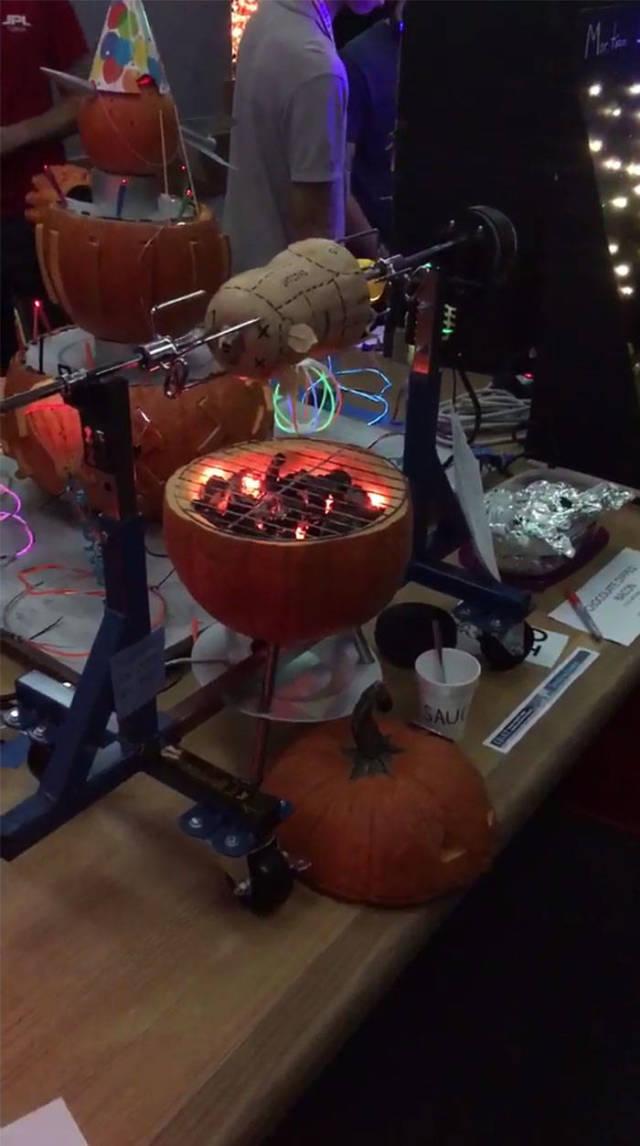 Pumpkin Carving By NASA Engineers