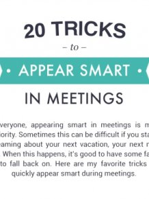 20 Tricks to Appear Smart In Meetings