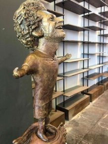 A Very Strange Egyptian Statue Of Mohammed Salah