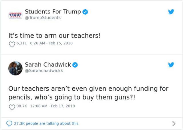 Comebacks Against Gun Activists