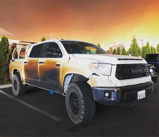 This Toyota Truck Helped A Nurse Save Lives In California Fire