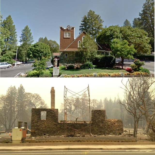 California Before And After The Wildfire