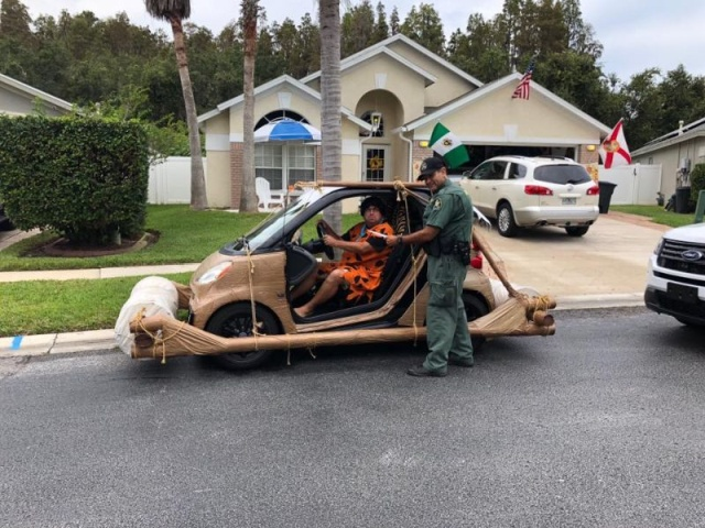 Cops Stopped Flinstones Cars