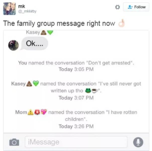 Family Group Chats