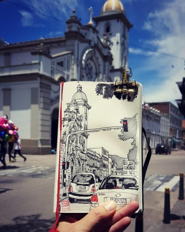 Architect Sketches The World Around Him