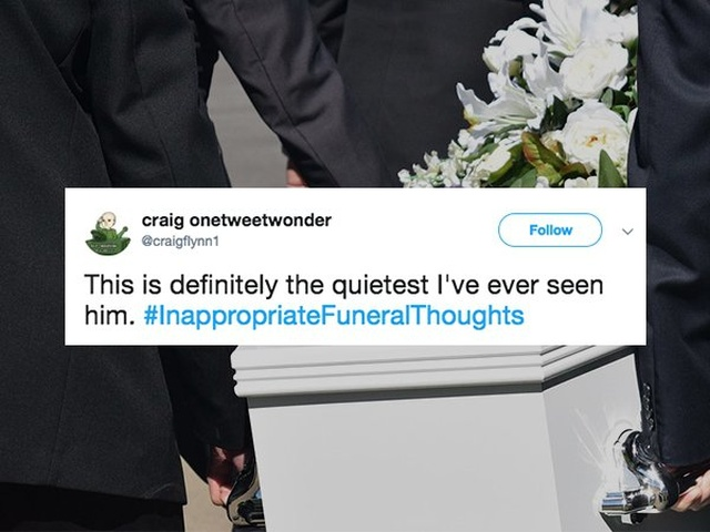 People Sharing The Inappropriate Funeral Thoughts
