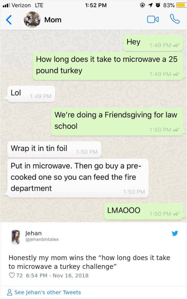 Ask Your Parents How To Cook A Turkey In A Microwave