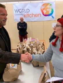 Arnold Schwarzenegger Helping California Wildfire Victims