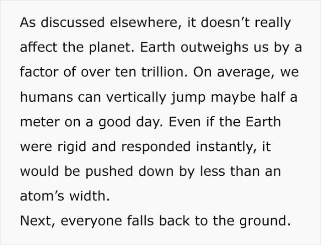 What If Everybody On Earth Jumped At The Same Time?