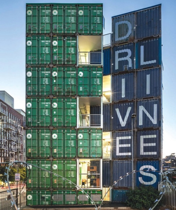 Residential Building in South Africa Made Out of 140 Upcycled Shipping Containers