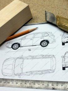 Wooden Subaru Forester